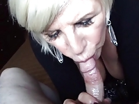 Fuckable sluts movies Blonde Granny Blowjob and Breast Relief